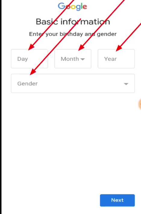 Gmail me Date of birth and gender add kaise kare