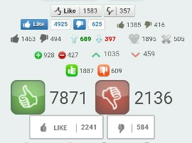 like and dislike button for blog