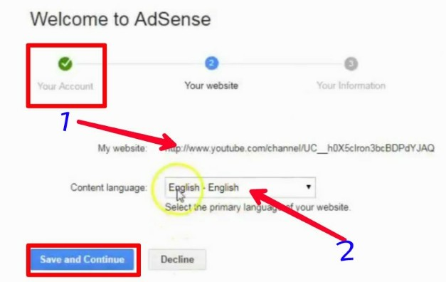 Adsense Account banane ke steps