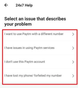 Write a issue for close paytm account