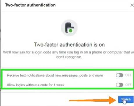 Facebook two factor authentication sign-in kare