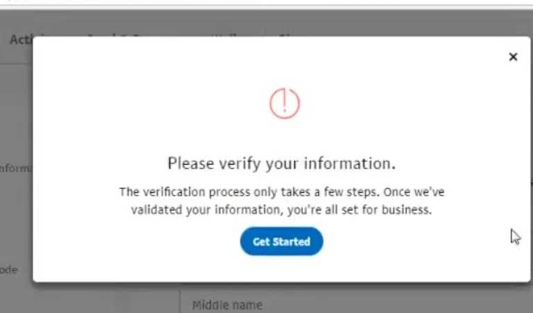 Paypal me Information Verify kaise kare