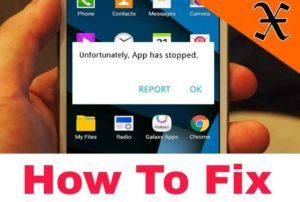 how to fix now Unfortunately App has Stopped problom