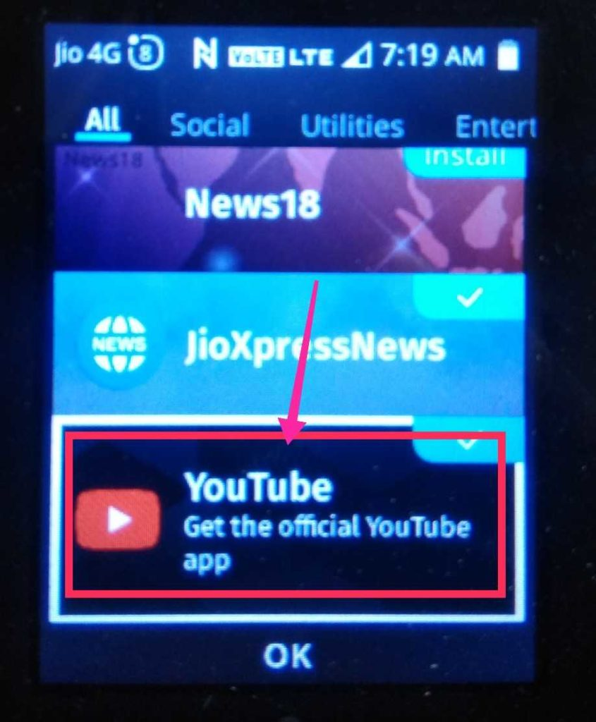 Jio phone me Youtube Chalaye