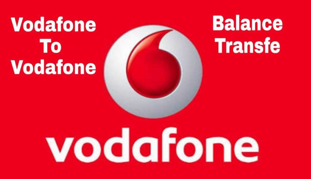 Vodafone to Vodafone Balance Talktime Send Kare