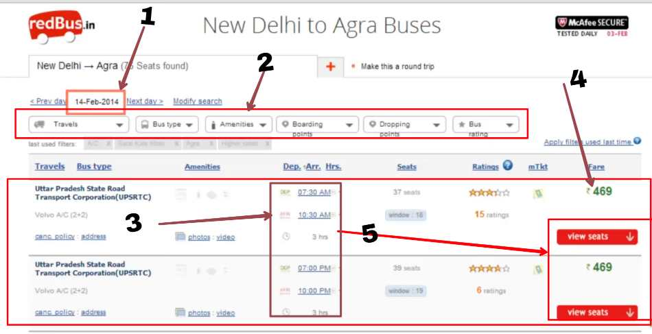 redbus bus ticket book with discount