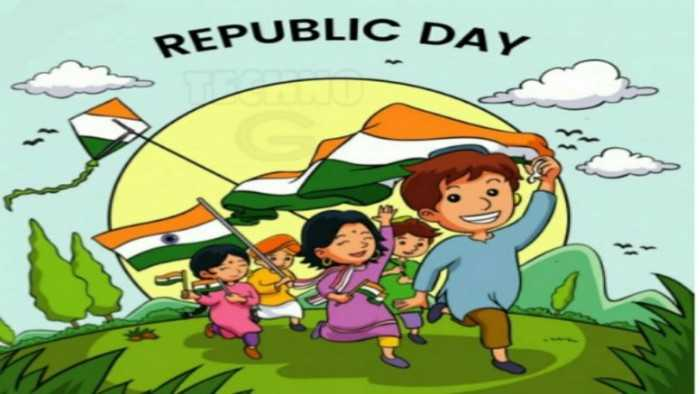 student wish happy republic day