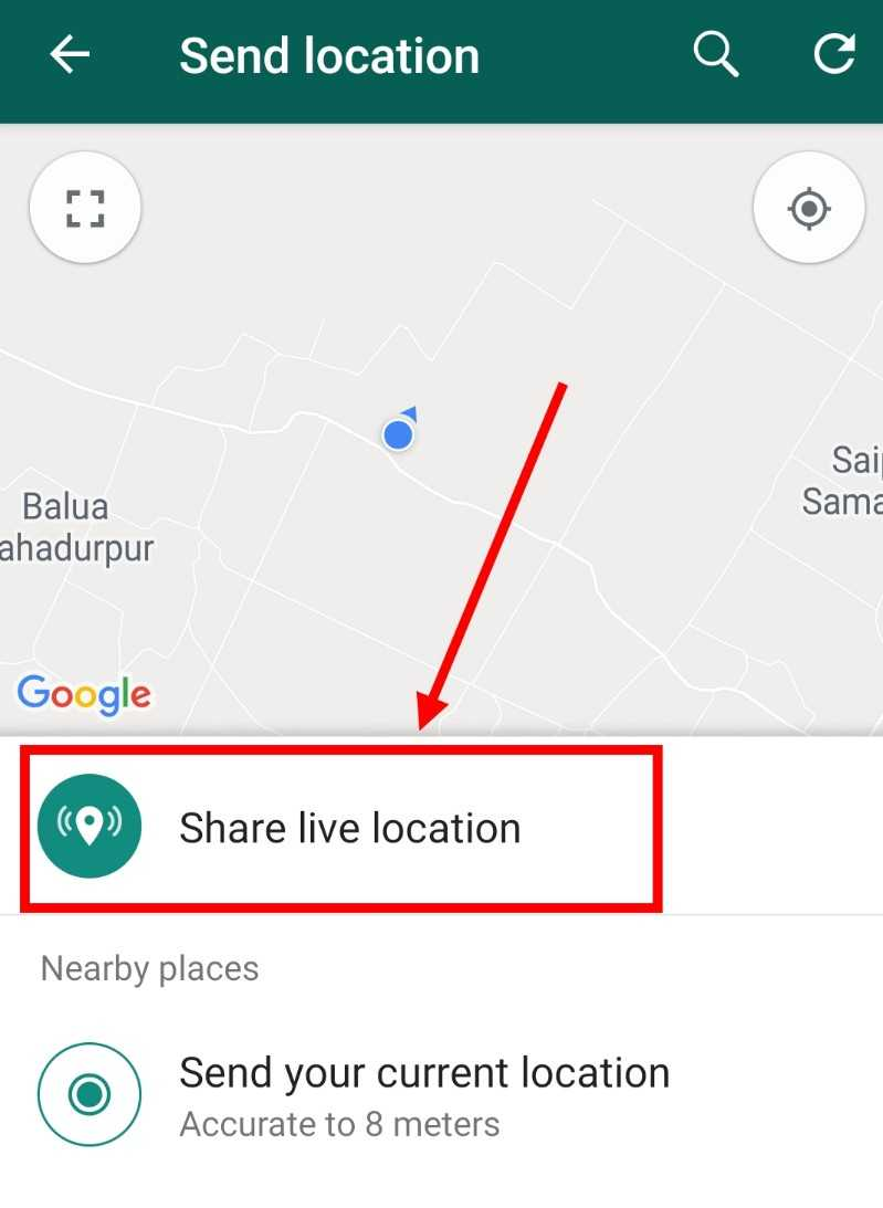 Share-live-locatiin-on-whatsapps-in-hindi