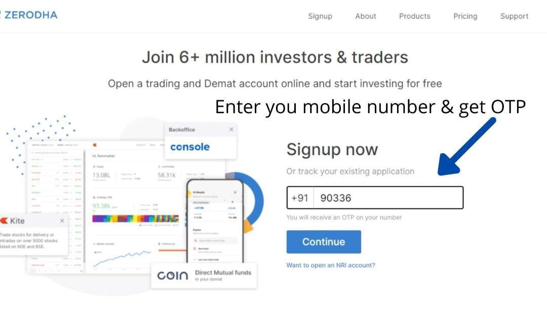 Sign-up-in-Zerodha